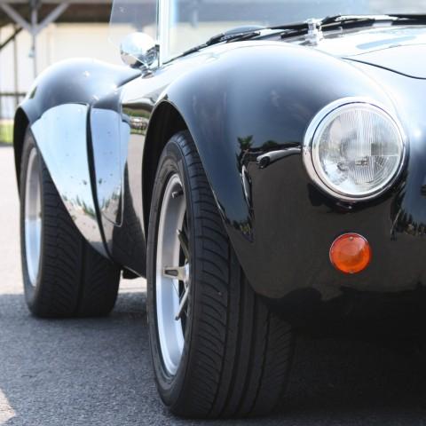 Classic black sporstcar